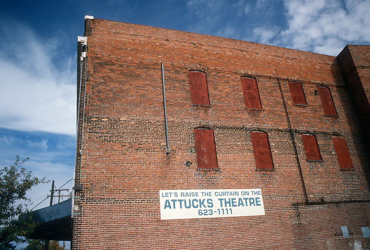 1995 November ..Rehabilitation..Attucks Theatre.Church Street..SIDE EXTERIOR VIEW FROM VIRGINIA BEACH BLVD...NEG#.NRHA#..