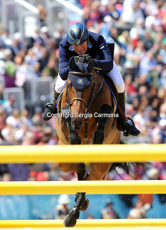 Olympic Games 2012; Equestrian - Venue: Greenwich Park. Jens Fredricson (SWE).Horse: Lunatic.