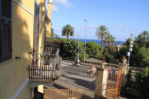 Balcony view from our hotel in Bogliasco, Genova, Italy.