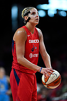 Washington, DC - September 8, 2019: Washington Mystics forward Elena Delle Donne (11) at the foul line during game between the Chicago Sky and Washington Mystics at the Entertainment and Sports Arena in Washington, DC. The Mystics locked up the #1 seed in the Playoffs by defeating the Sky 100-86. (Photo by Phil Peters/Media Images International)