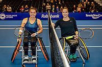 Alphen aan den Rijn, Netherlands, December 22, 2019, TV Nieuwe Sloot,  NK Tennis, Final wheelchair:  Marjolein Buis (NED) and Jiske Griffioen (NED) (R) before the match<br /> Photo: www.tennisimages.com/Henk Koster