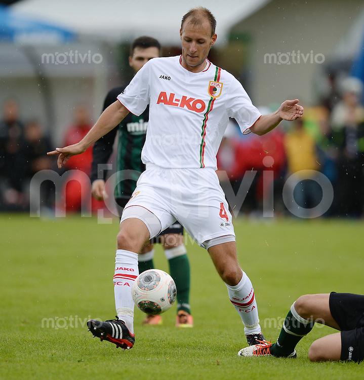 FUSSBALL  1. Bundesliga   2013/2014   Testspiel  TSV Marktoberdorf - FC Augsburg     29.06.2013 Dominik Reinhardt (FC Augsburg) am Ball
