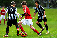 Action from the football match between Mission Heights and Francis Douglas during the AIMS games at Bay Arena in Mount Maunganui, New Zealand on Thursday, 14 September 2017. Photo: Dave Lintott / lintottphoto.co.nz