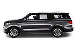 Car driver side profile view of a 2018 Lincoln Navigator L Reserve 5 Door Wagon