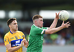 Shane Brennan of Clare in action against Seamus O Carroll of Limerick during their Munster championship quarter-final game in Cusack park. Photograph by John Kelly.