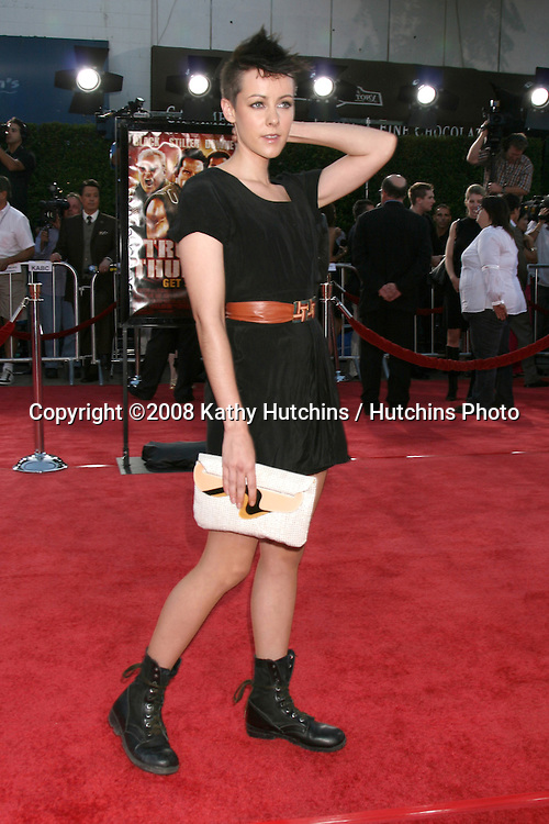 "Jenna Malone  arriving at .""Tropic Thumder"" Premiere at the Mann's Village Theater in Westwood, CA.August 11, 2008.©2008 Kathy Hutchins / Hutchins Photo...."