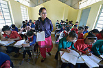 A school class in Pida, a village in Nepal's Dhading District where the United Methodist Committee on Relief (UMCOR), a member of the ACT Alliance, is helping families to rebuild their lives in the wake of the 2015 earthquake that ravaged much of Nepal.