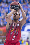San Pablo Burgos Corey Fisher during Liga Endesa match between San Pablo Burgos and Gipuzkoa Basket at Coliseum Burgos in Burgos, Spain. December 30, 2017. (ALTERPHOTOS/Borja B.Hojas)