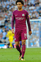 Leroy Sane of Manchester City (19)  during the EPL - Premier League match between Brighton and Hove Albion and Manchester City at the American Express Community Stadium, Brighton and Hove, England on 12 August 2017. Photo by Edward Thomas / PRiME Media Images.