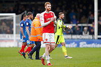 Cian Bolger of Fleetwood Town during the Sky Bet League 1 match between Peterborough and Fleetwood Town at London Road, Peterborough, England on 28 April 2018. Photo by Carlton Myrie.