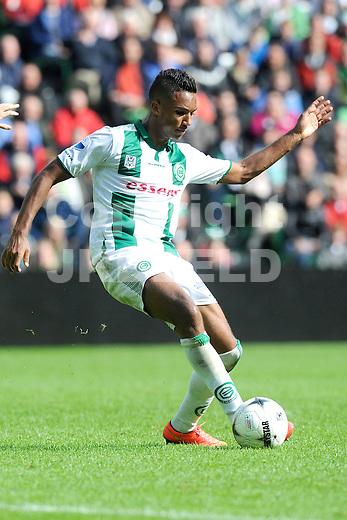 GRONINGEN - Voetbal, FC Groningen - Ajax,  Eredivisie, Euroborg, seizoen 2014-2015, 31-08-2014,   FC Groningen speler Danny Hoesen
