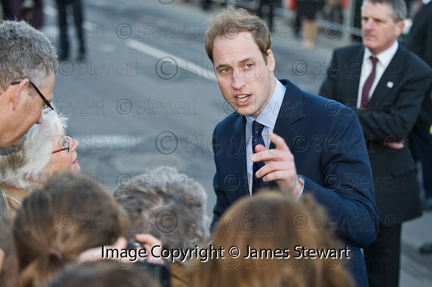 ::  PRINCE WILLIAM GOES WALK ABOUT IN ST ANDREWS :: HRH PRINCE WILLIAM OF WALES AND FIANCE KATE MIDDLETON WHERE IN ST ANDREWS TO LAUNCH THE UNIVERSITY OF ST ANDREWS' 600TH ANNIVERSARY CELEBRATIONS  ::