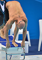 August 02, 2012..Brent Hayden set to compete in Men's 50m Freestyle Semifinal at the Aquatics Center on day six of 2012 Olympic Games in London, United Kingdom.