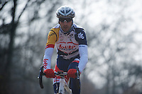 Paris-Roubaix 2013 RECON at Bois de Wallers-Arenberg..Kenny Dehaes (BEL)