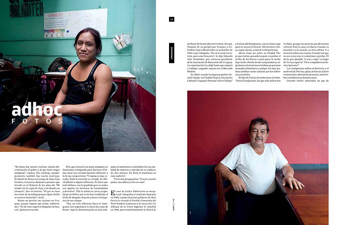 Revista Lento, Montevideo, Uruguay, 2013.<br /> Foto: Ricardo Antunez
