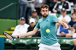 March 11, 2019: Gilles Simon (FRA) in action where he was defeated by Dominic Thiem (AUT) 6-3, 6-1 at the BNP Paribas Open at the Indian Wells Tennis Garden in Indian Wells, California. ©Mal Taam/TennisClix/CSM