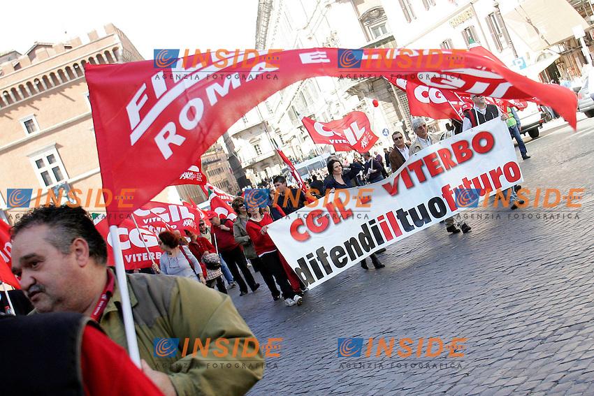 """.Roma 02/04/2011 Manifestazione CGIL Roma e Lazio """"Aspettando il 6 maggio Una rinascita .fondata sul lavoro"""".Photo Zucchi/Insidefoto"""