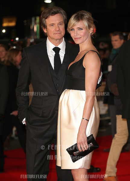 Cameron Diaz and Colin Firth arriving for the World Premiere of Gambit, at the Empire Leicester Square, London. 07/11/2012 Picture by: Alexandra Glen / Featureflash
