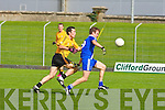 St Mary's Niall O'Driscoll gets away from Listowel Emmets Brian McGuire in the intermediate championship semi-final at Austin stack park, Tralee on Sunday.