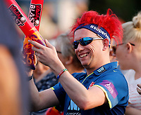 A Kent fan looks on during the T20 Quarter-Final game between Kent Spitfires and Lancashire Lightning at the St Lawrence ground, Canterbury, on Aug 23, 2018.