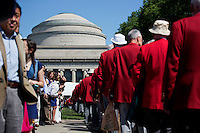 Members of the Class of 1962 wear their 50th anniversary red coats during the 2012 MIT Commencement on June 8, 2012, in Cambridge, Massachusetts, USA...Photo by M. Scott Brauer