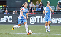 """Portland, OR - Saturday August 19, 2017: Andressa Cavalari Machry """"Andressinha"""" during a regular season National Women's Soccer League (NWSL) match between the Portland Thorns FC and the Houston Dash at Providence Park."""
