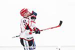 Stockholm 2014-12-01 Ishockey Hockeyallsvenskan AIK - S&ouml;dert&auml;lje SK :  <br /> S&ouml;dert&auml;ljes Michal Gulasi firar sin reducering till 2-3 under matchen mellan AIK och S&ouml;dert&auml;lje SK <br /> (Foto: Kenta J&ouml;nsson) Nyckelord:  AIK Gnaget Hockeyallsvenskan Allsvenskan Hovet Johanneshov Isstadion S&ouml;dert&auml;lje SSK jubel gl&auml;dje lycka glad happy