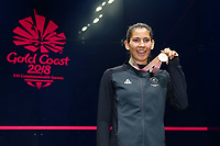 Joelle King of New Zealand wins gold in the Women's Singles Final. Gold Coast 2018 Commonwealth Games, Squash, Oxenford Studios, Gold Coast, Australia. 9 April 2018 © Copyright Photo: Anthony Au-Yeung / www.photosport.nz /SWpix.com