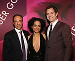 Hal Luftig, Lauren Ridloff and Joshua Jackson attends the Broadway Opening Night After Party for 'Children of a Lesser God' at Edison Ballroom on April 11, 2018 in New York City.