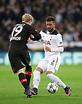 Tottenham's Kyle Walker tussles with Leverksen's Julian Brandt during the Champions League group E match at the Wembley Stadium, London. Picture date November 2nd, 2016 Pic David Klein/Sportimage