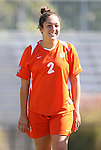 26 October 2008: Clemson's K.K. Duffy. The Duke University Blue Devils defeated the Clemson University Tigers 6-0 at Koskinen Stadium in Durham, North Carolina in an NCAA Division I Women's college soccer game.