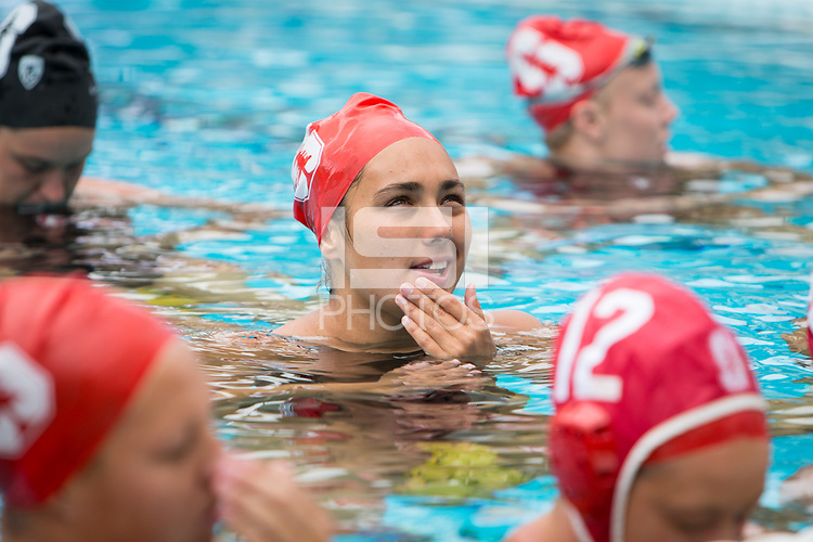 STANFORD, CA - April 20, 2019: Kayla Constandse at Avery Aquatic Center. The #1 Stanford Cardinal took down the #20 San Jose State Spartans 22-4.