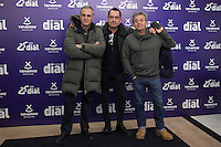 Hombres G music band poses during Cadena Dial music awards presentation in Madrid, Spain. February 05, 2015. (ALTERPHOTOS/Victor Blanco) /NORTEphoto.com