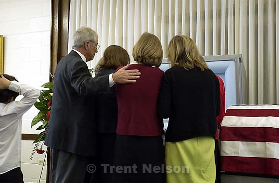 Ed Zambrano, Ed Quayle, Pat Wickman, Maddie Quayle, Edie Zambrano. Memorial service for Anthony Quayle. 10.29.2002, 12:55:47 PM<br />