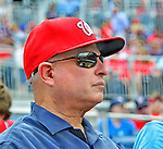 3 September 2012: Washington Nationals Owner Mark Lerner watches a game against the Chicago Cubs at Nationals Park in Washington, DC. The Nationals edged out the visiting Cubs 2-1, in the first game of heir 4-game series. Mandatory Credit: Ed Wolfstein Photo