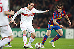 Barcelona's Maxwell against VfB Stuttgart's Timo Gebhart during  Champions League match. March 17, 2010. (ALTERPHOTOS/Tati Quinones)