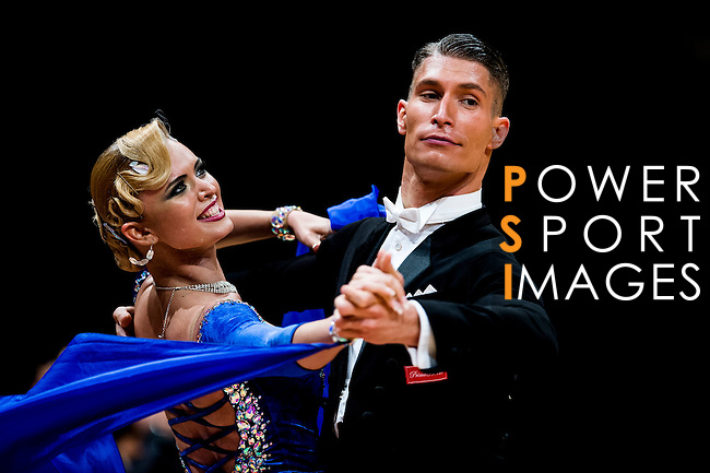 Miha Vodicar and Nadiya Bychkova of Slovenia during the WDSF GrandSlam Standard on the Day 2 of the WDSF GrandSlam Hong Kong 2014 on June 01, 2014 at the Queen Elizabeth Stadium Arena in Hong Kong, China. Photo by AItor Alcalde / Power Sport Images