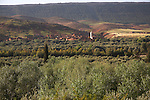 Berber village in green north west facing foothills of Atlas Mountains on Tiz-n-Tichka road Morocco north Africa