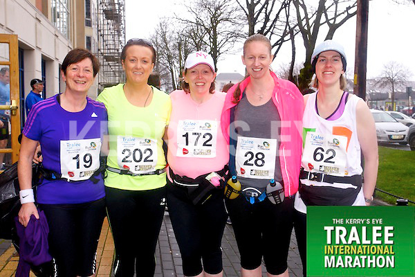 Noreen Brassil 19, Siobhan Lynch 202, Karen Ivers 172, Sandra Byrne 28, Catherine Costello 62, who took part in the Kerry's Eye Tralee International Marathon on Sunday 16th March 2014.