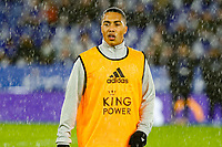 8th January 2020; King Power Stadium, Leicester, Midlands, England; English Football League Cup Football, Carabao Cup, Leicester City versus Aston Villa; Youri Tielemans of Leicester City during the pre-match warm-up - Strictly Editorial Use Only. No use with unauthorized audio, video, data, fixture lists, club/league logos or 'live' services. Online in-match use limited to 120 images, no video emulation. No use in betting, games or single club/league/player publications