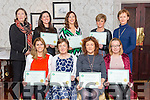 Kerry School of Reflexology Graduation Awards at the Meadowlands Hotel on Sunday. Pictured Front l-r Anne Barry, Rita O'Sullivan, Mary Linehan, Joanne Moriarty, Back l-r Betty McKenna, Tutor, Karen Joy, Louise Murphy, Anne Herbert, Principal/Tutor: Joan O'Reilly
