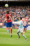 Atletico de Madrid's Filipe Luis and Celta de Vigo's Orellana during La Liga Match at Vicente Calderon Stadium in Madrid. May 14, 2016. (ALTERPHOTOS/BorjaB.Hojas)