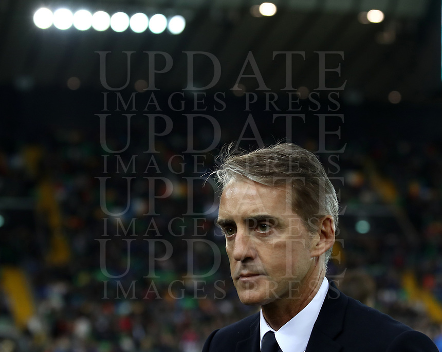 Football: Euro 2020 Group J qualifying football match Italy vs Finland at the Friuli Stadium in Udine on march  23, 2019.<br /> Italy's national team coach Roberto Mancini prior to the Euro 2020 qualifying football match between Italy and Finland at the Friuli Stadium in Udine, on march 23, 019<br /> UPDATE IMAGES PRESS/Isabella Bonotto
