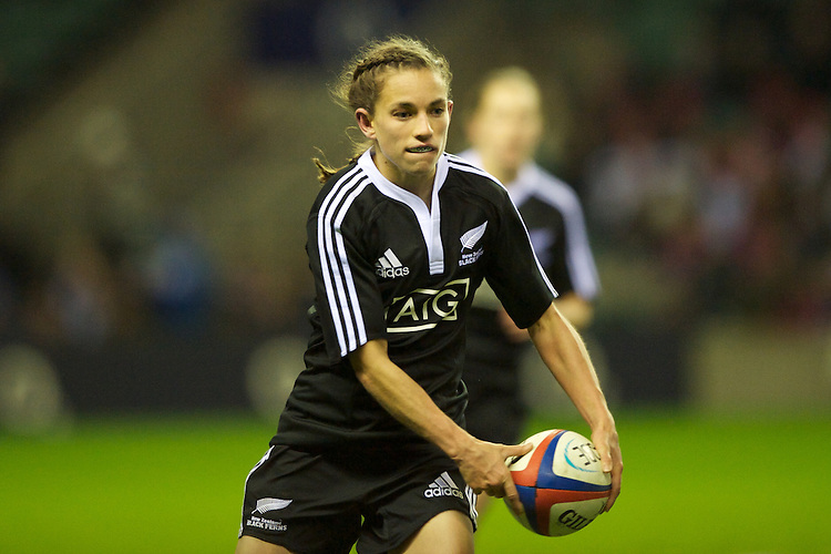 Selica Winiata of the Black Ferns  during the test match between England Women and the Black Ferns at Twickenham on Saturday 01 December 2012 (Photo by Rob Munro)
