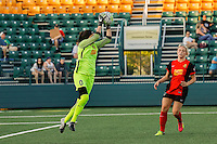 Rochester, NY - Friday June 24, 2016: Western New York Flash goalkeeper Katelyn Rowland (0)  during a regular season National Women's Soccer League (NWSL) match between the Western New York Flash and the Boston Breakers at Rochester Rhinos Stadium.