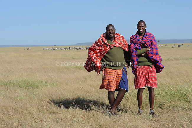 WWW.ACEPIXS.COM<br /> March 6, 2016 New York City<br /> <br /> Masi Mara Guides, Big John and John Mark, in Maasai Mara National Reserve on March 6, 2016 in Kenya.<br /> <br /> Credit: Kristin Callahan<br /> web: http://www.acepixs.com