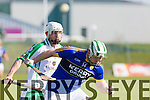 Kerry's Padraig Boyle and London's Kieran Fitzpatrick at the Kerry V London in the ALLIANZ NHL DIVISION 2A at Austin Stack Park on Sunday