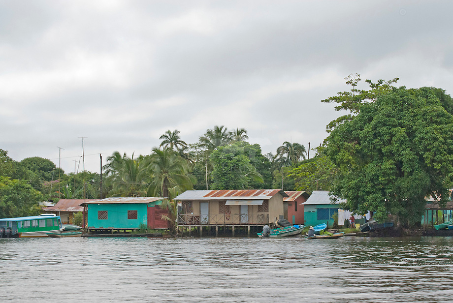 Village of Tortuguero, Atlantic coast of Costa Rica