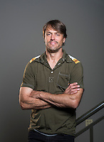 Retired NFL quarterback Jake Plummer at Realm of Caring's Charlotte Botanicals lab in Boulder, Colorado, Tuesday, May 31, 2016. Plummer is an advocate for the use of CBDs and medical marijuana use for NFL players. <br /> <br /> Photo by Matt Nager