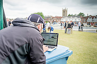 Henley-on-Thames. United Kingdom.  Photographer reviewing his images at the 2017 Henley Royal Regatta, Henley Reach, River Thames. <br /> <br /> <br /> 14:50:45  Thursday  29/06/2017   <br /> <br /> [Mandatory Credit. Peter SPURRIER/Intersport Images.